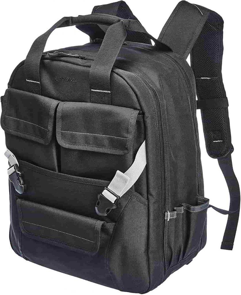 Amazon Basics Durable, Padded Tool Bag Backpack