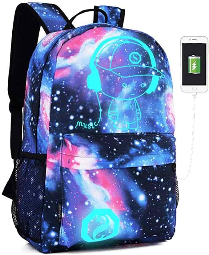 Anime Cartoon Luminous Backpack