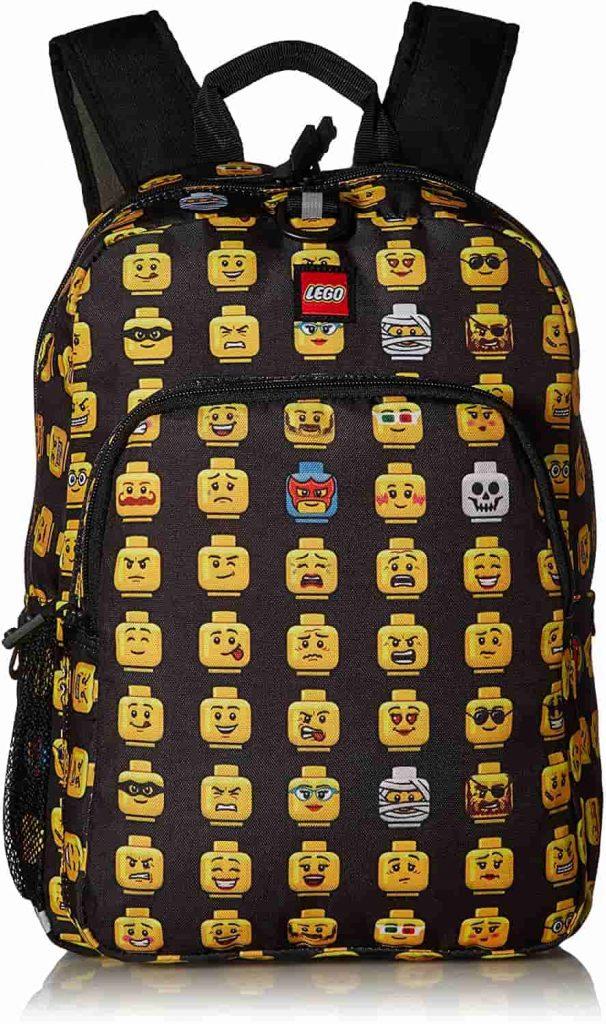 LEGO Kids' Heritage, Black Cartoon Backpack