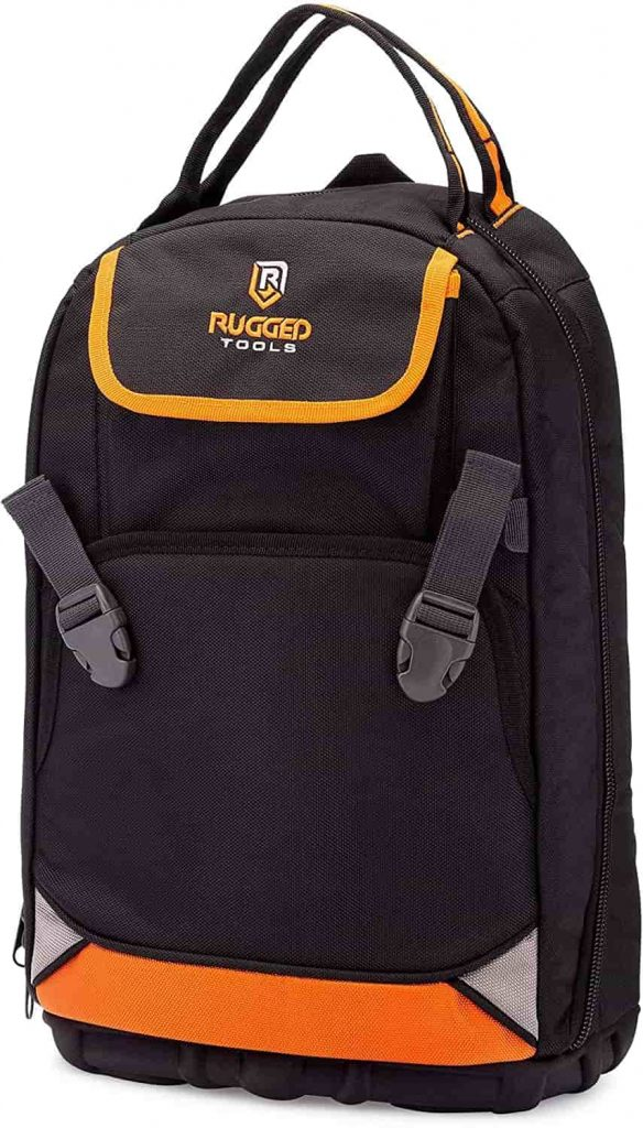 Rugged Tools Tradesman Tool Backpack for repairman, plumber, framer, electrician